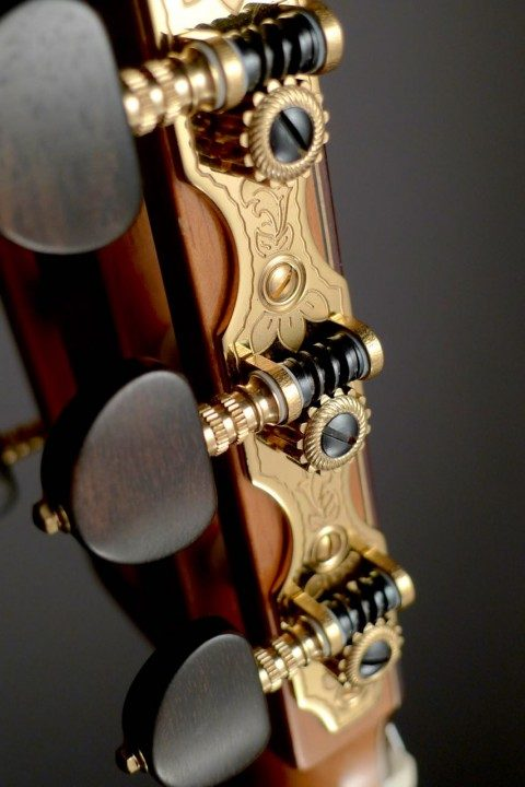 Rubner Gold Tuners With Ebony Buttons