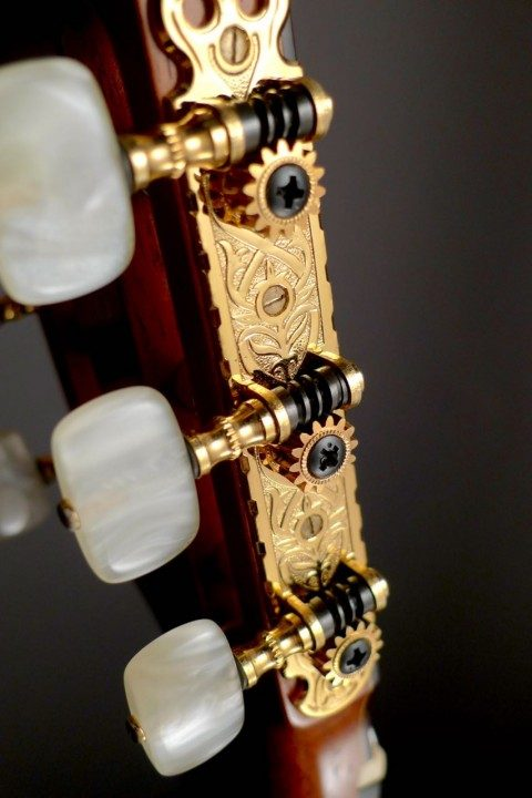 Fustero Gold Etched Tuners With Pearloid Buttons