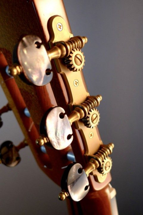 Gotoh Gold Tuners With Black Pearloid Buttons