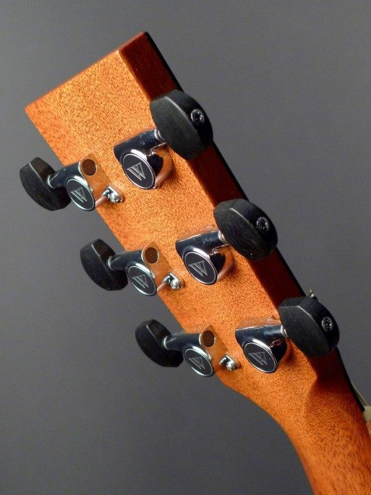 Gotoh Chrome Tuners With Ebony Buttons