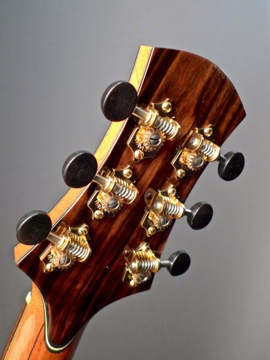 Gold Tuners With Ebony Buttons