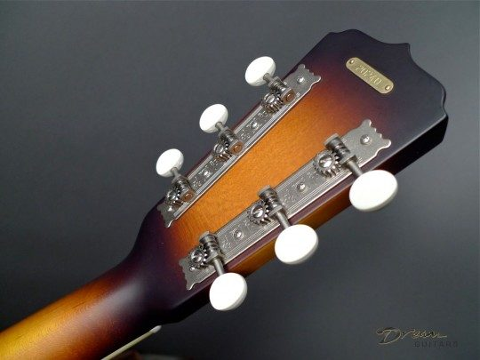 Three On A Plate Nickel With Ivoroid Buttons Tuners