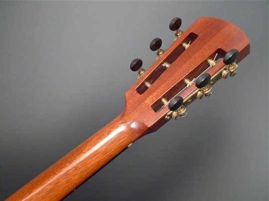 Waverly #3503 Three-on-a-plate Bronze With Ebony Buttons Tuners
