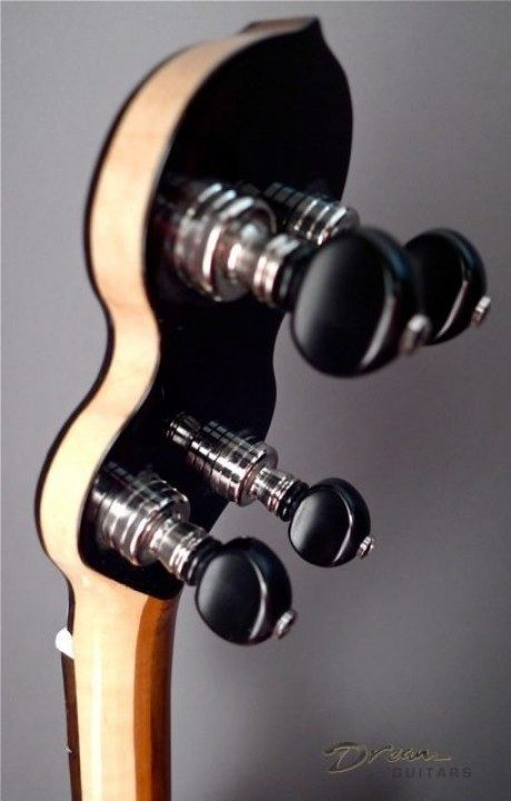 Grover Nickel With Ebony Buttons Tuners