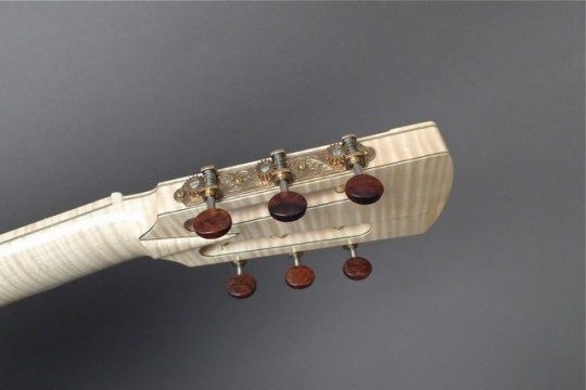 Three On A Plate Gold Etched With Snakewood Buttons Tuners