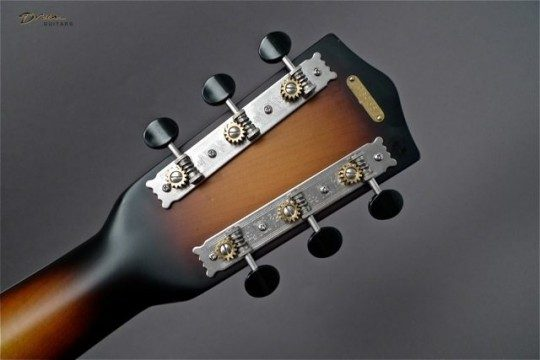 Three On A Plate Chrome With Ebony Buttons Tuners