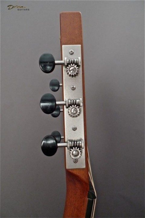 Three On A Plate Nickel With Ebony Buttons Tuners