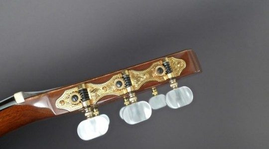 Gold Etched With Pearloid Buttons Tuners