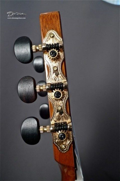 Gotoh Gold Etched Tuners With Ebony Buttons