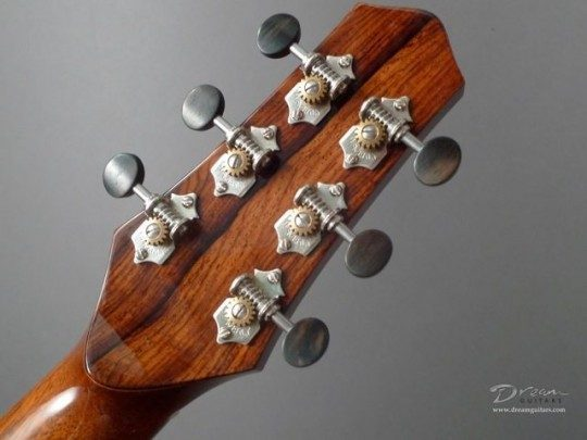 Nickel Waverly tuners with Ebony Buttons