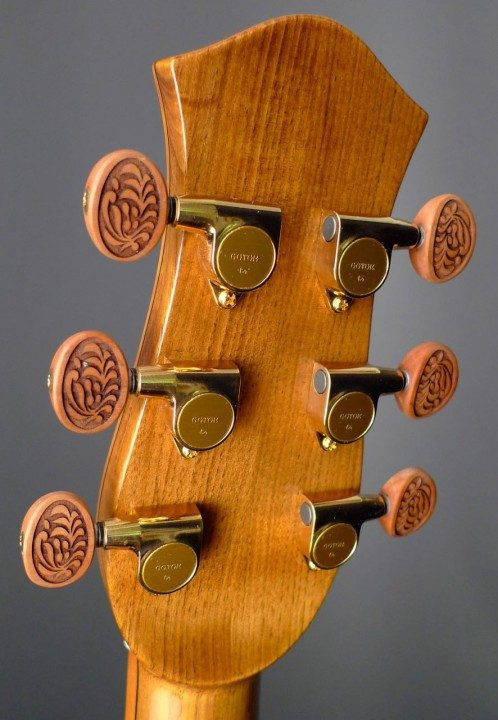 Gotoh 510s, Carved Applewood Buttons Gold Tuners