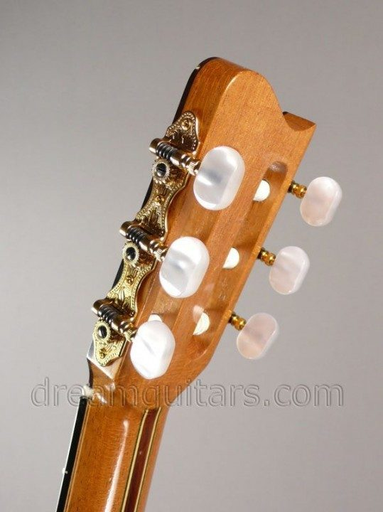 Gold Schaller tuners with Pearloid buttons