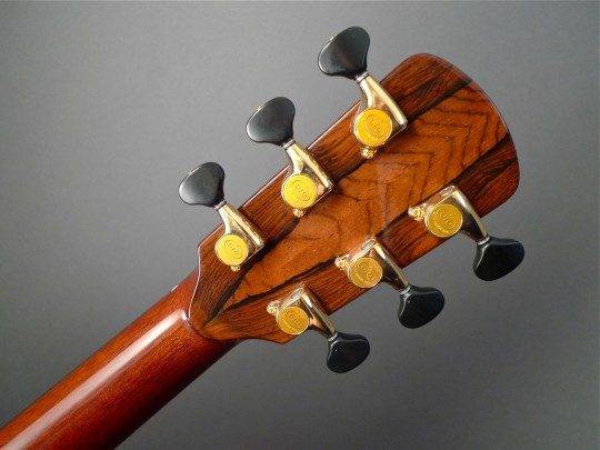 Gotoh 510 Gold with Ebony Buttons  Gold With Ebony Buttons Tuners