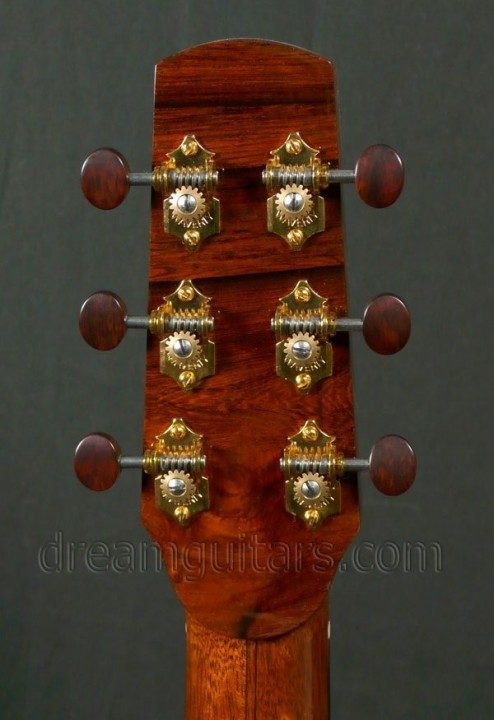 Gold Waverly tuners with Snakewood Buttons