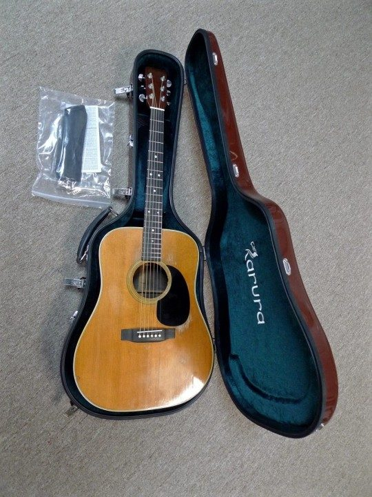 Guitar shown only for demonstration, not included with case.