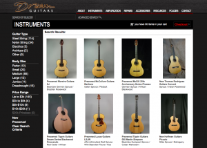 Dream Guitars new website offers faster navigation and ease of use.