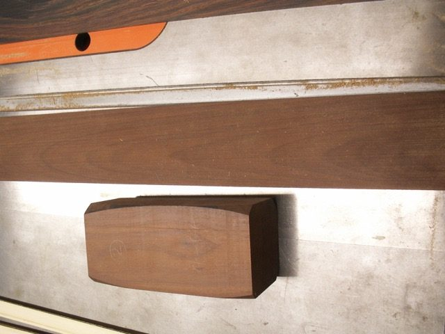 Here is the neck blank for the 20th anniversary guitar, it's cut from a bed post from an 1800's bed that was found in the attic of a friends 200 year old farmhouse. there were 2 beds, the one I got was too damaged for restoration so he gave it to me for the wood. you can see the post turning on the heel block...